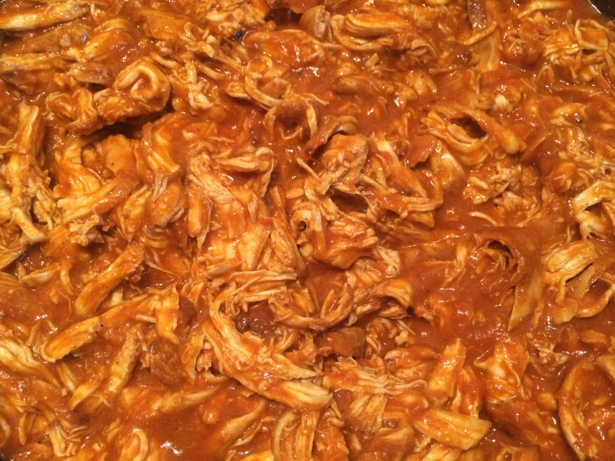 Pulled Chicken mit Enchilada-Sauce